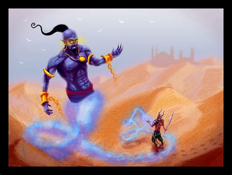 painting drawing the djinn by maeshanne on deviantart