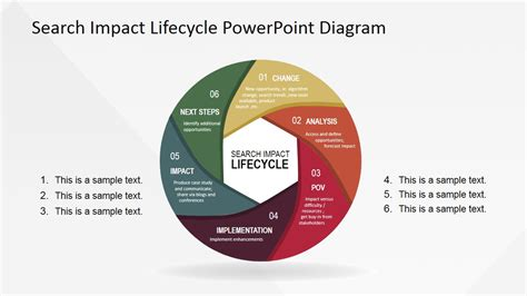 powerpoint templates free download life search impact life cycle powerpoint diagram slidemodel