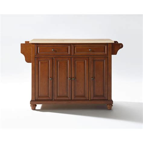 cambridge wood top kitchen island in classic