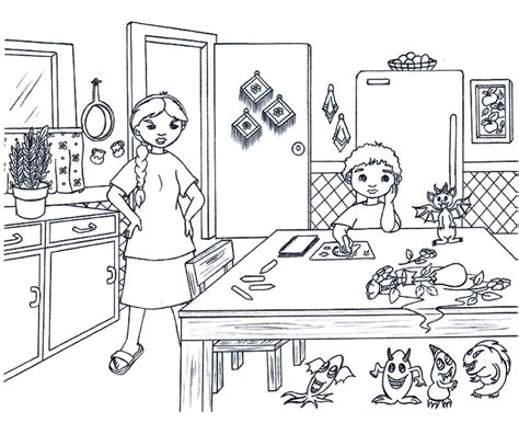 kitchen safety coloring book coloring pages
