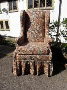 lovely vintage country cottage style paisley wingback