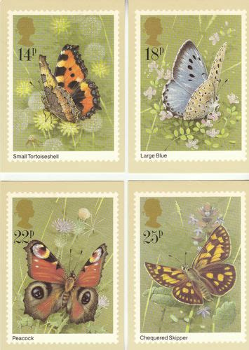 Where To Use Post Office Gift Card - collectable cards u k post office set of 4 butterflies cards 1981