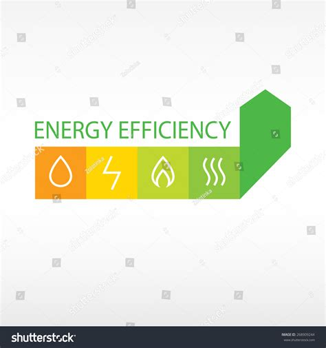 diagram of energy conservation vector logo energy efficiency diagram growth stock vector