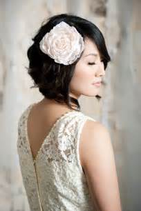 Wedding hairstyle for short hair luxury wedding