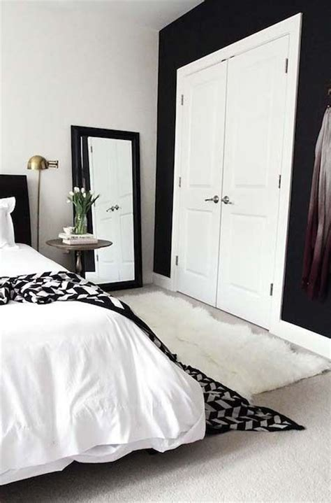 white bedroom with black accents from lackluster to lovely s bedroom makeover
