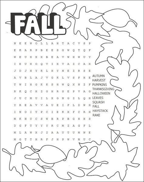 printable word search autumn free word search puzzles for kids activity shelter