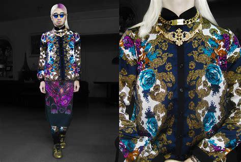 Id 521 Monochrome Mix Print Shirt andre judd floral baroque print shirt baroque print