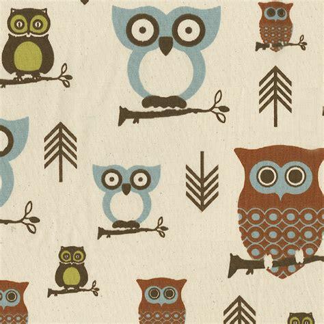Owl Upholstery Fabric by Retro Owls Fabric Modern Fabric Atlanta By