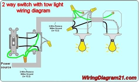 wiring diagram for two way light switch diagram free