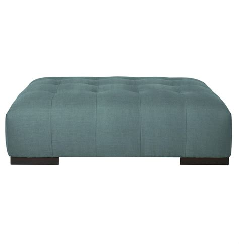 blue tufted ottoman coffee table arden modern tufted powder blue rectangle coffee