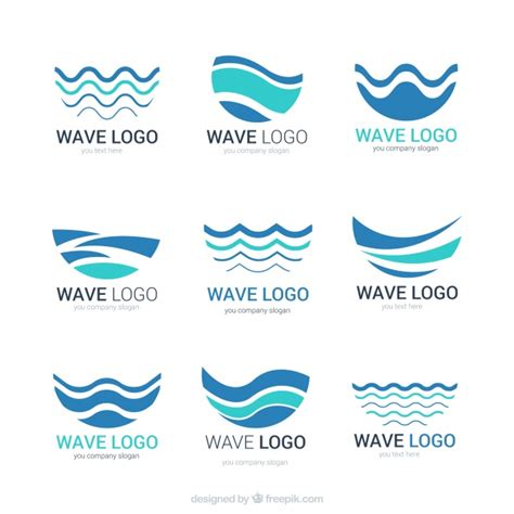 wave pattern logo water logo vectors photos and psd files free download