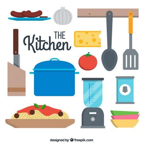 imagenes vectores cocina colecci 243 n plana de utensilios de cocina descargar