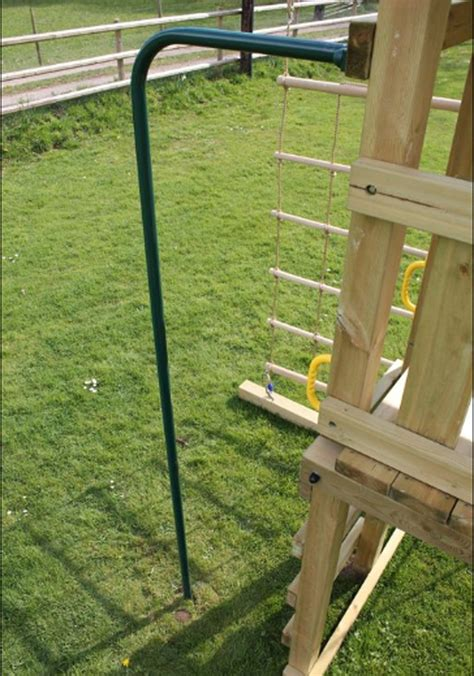 swing set with fireman pole ventura maxi climbing frame with monkey beam and tube slide