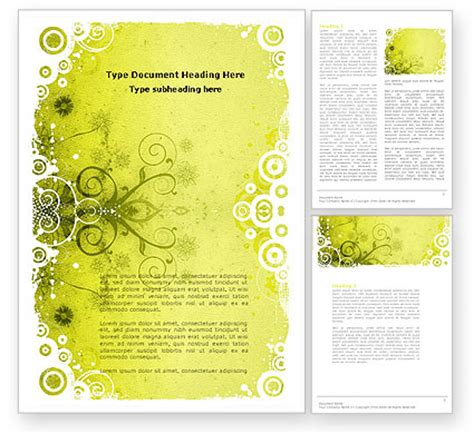 cool theme word template 04435 poweredtemplate com