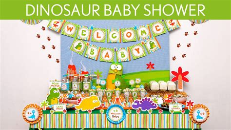 Dinosaur Baby Shower Decorations by Dinosaur Baby Shower Ideas Dinosaur S24
