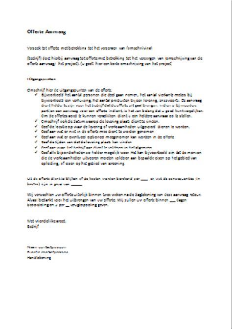 Officiele Briefformat Voorbeeld Offerte Aanvraag