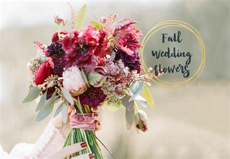 Fall Wedding Flower Ideas by 6 Stunning Fall Wedding Bouquets B Lovely Events