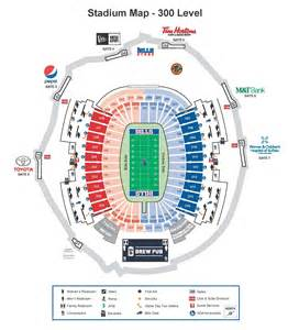 stadium maps buffalo bills