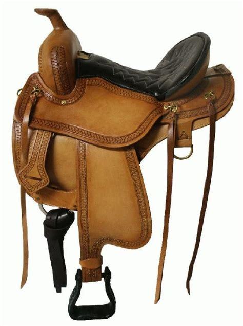 horse saddle double t gaited saddle semi quarter horse bars
