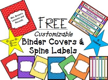 free editable printable binder covers and spines free editable binder covers by brooke brown teach