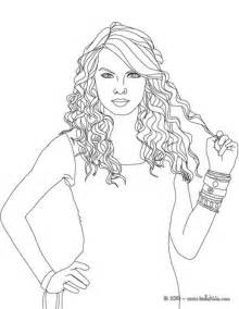 taylor swift curly hair coloring pages hellokids com