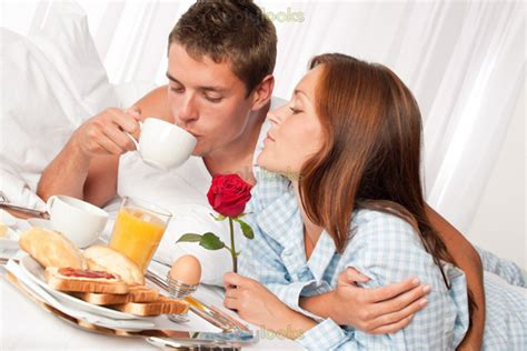 lovers in bed breakfast in bed 7 more date night ideas for married couples
