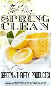 green thrifty cleaning products living well spending less 174 green thrifty cleaning products just 10 household items