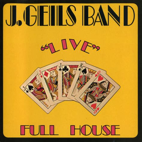 The J Geils Band Quot Live Quot Full House Vinyl Lp Album House Discography