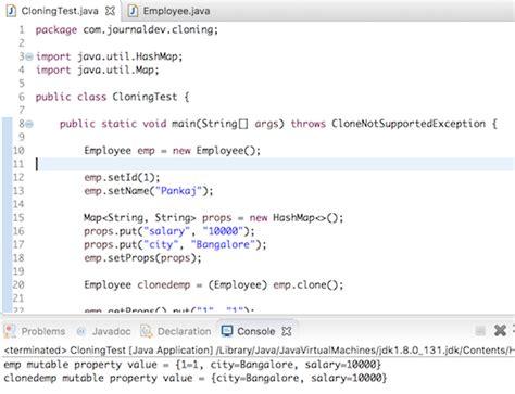 tutorial java util java clone object cloning in java journaldev
