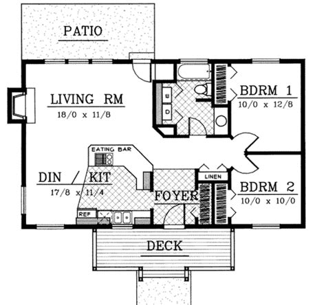 floor plans com cottage style house plan 2 beds 1 baths 960 sq ft plan
