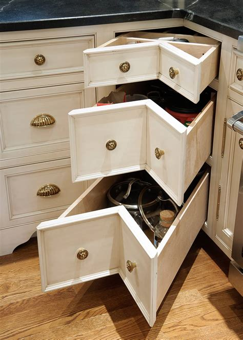 corner drawer kitchen cabinet levant nantucket glazed kitchen with curly cherry island