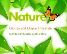 Free Powerpoint Templates Nature by Nature Powerpoint Templates