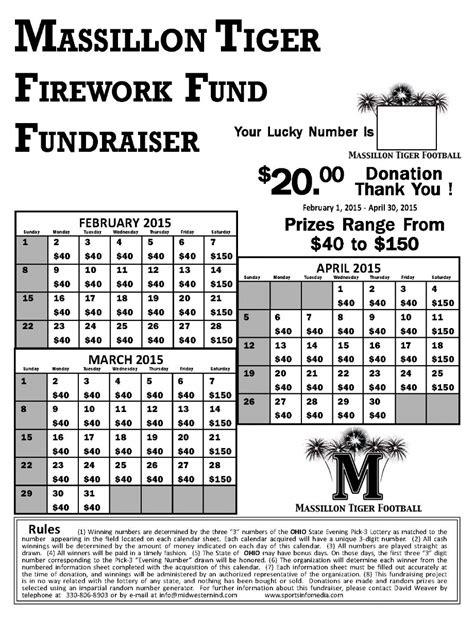 Calendar Fundraising Kit Calendar Fundraiser Template