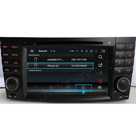 android double din mercedes benz  class  navigation dvd player