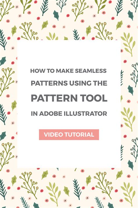 pattern tool ai how to make seamless patterns using the pattern tool in