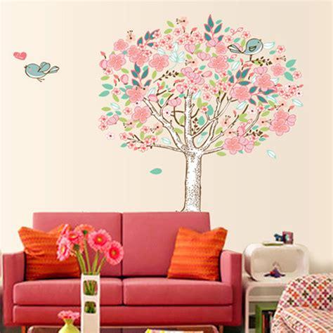 buy bird flower tree removable vinyl wall