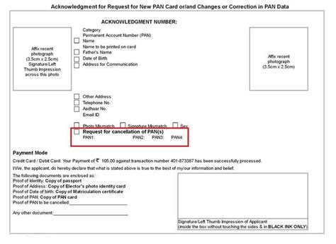 pan card cancellation letter format pan card how to additional pan card and what