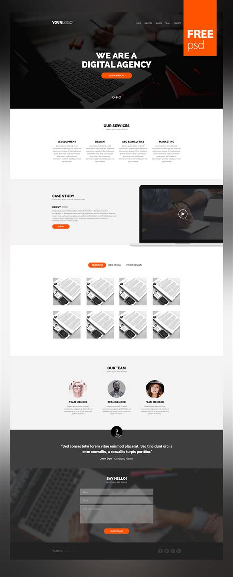 High Quality 50 Free Corporate And Business Web Templates Psd Download Download Psd Easy To Build Websites From Templates