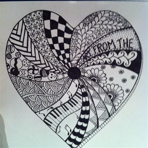 heart zentangle pattern heart zentangle zentangle quot from the heart