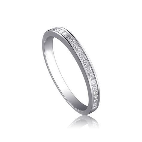 Wedding Bands Affordable by Affordable Half Carat Princess Cut Wedding Band