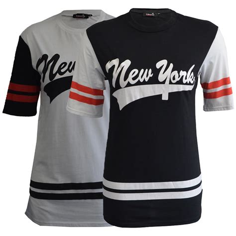 Varsity Plus new womens top baseball t shirt new york varsity