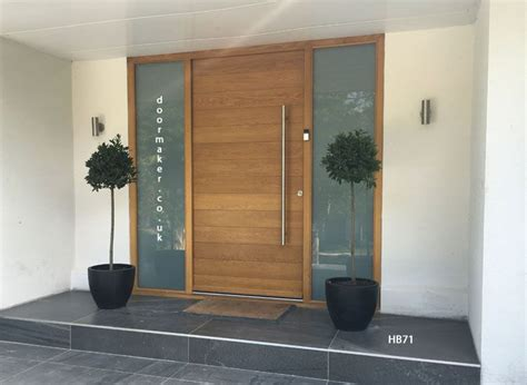 the house entrance door steps indian style contemporary oak door with sandblast sidelights entradas para casas pinte