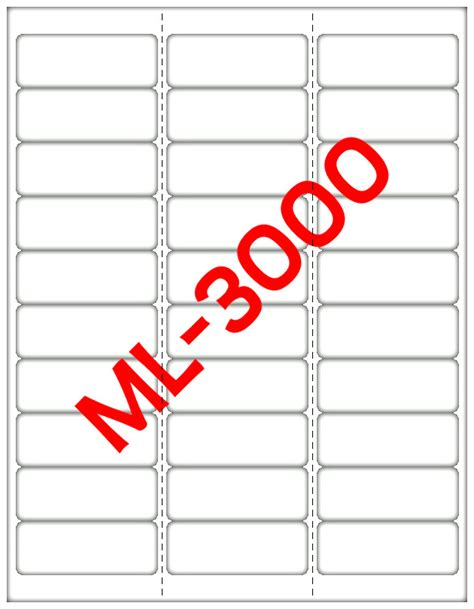maco label templates 15000 maco ml 3000 mailing address labels 2 5 8 quot x 1