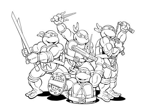 ninja turtle happy birthday coloring page ninja coloring pages bestofcoloring com