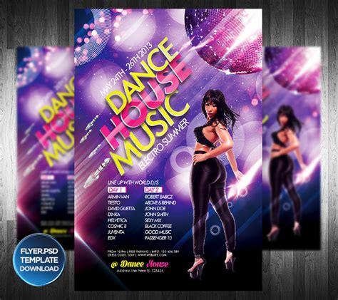 template flyer girl dance dance house party flyer template by grandelelo on deviantart