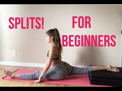 best yoga tutorial youtube how to get your splits fast easy simple for beginners