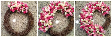 spring wreath wreath spring spring tulip wreath by pinterest project spring tulip wreath diy from the