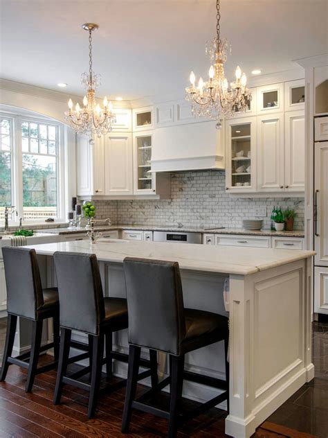 white marble topped kitchen island traditional kitchen