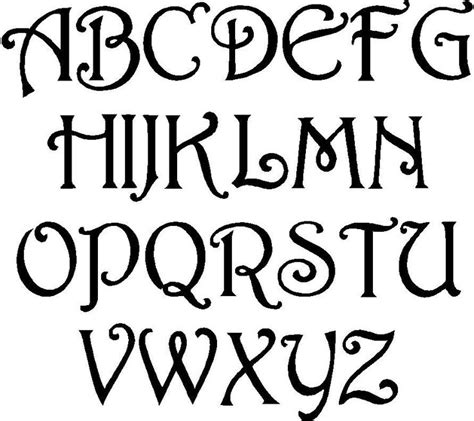 tattoo lettering fonts template fun free alphabet stencil cool lettering designs free