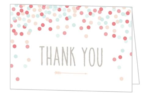 bridal shower thank you card wording for someone who didn t attend confetti bridal shower thank you card wedding thank